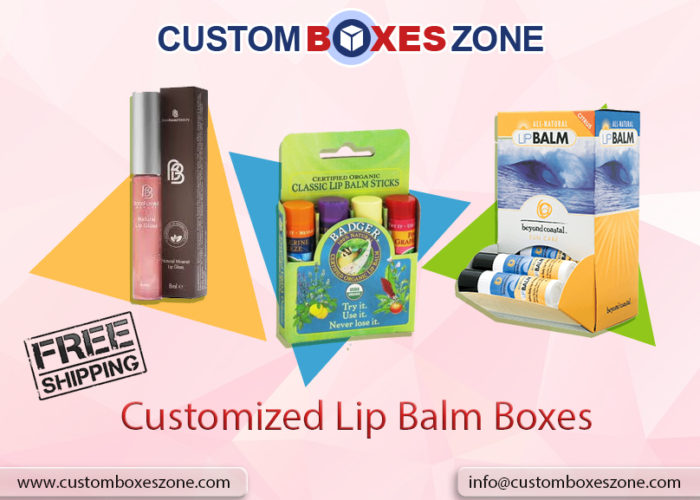 Customized Lip balm boxes
